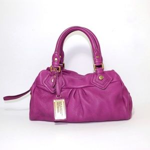 💟MARC BY MARC JACOBS MAGENTA LEATHER HANDBAG